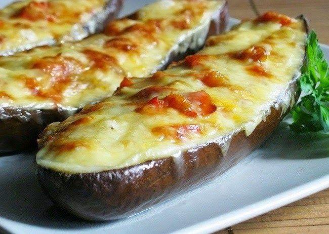 Самые вкусные рецепты: Лодочки из баклажанов с грибами