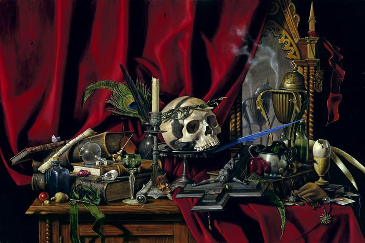"""B.A.Vierling 'Vanitas' The Latin word means """"vanity"""" and loosely translated, corresponds to the transient nature of all earthly goods and pursuits."""