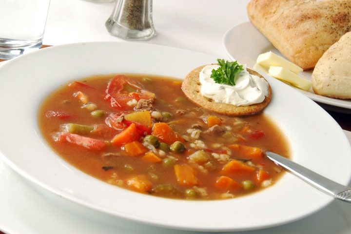 Hulled Barley Vegetable Soup - Barley can help you lose weight because it takes more time for your body to digest it.