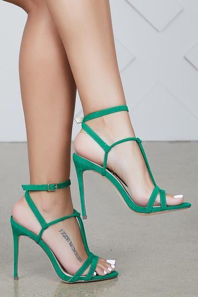 Eunice Stiletto Heel Green