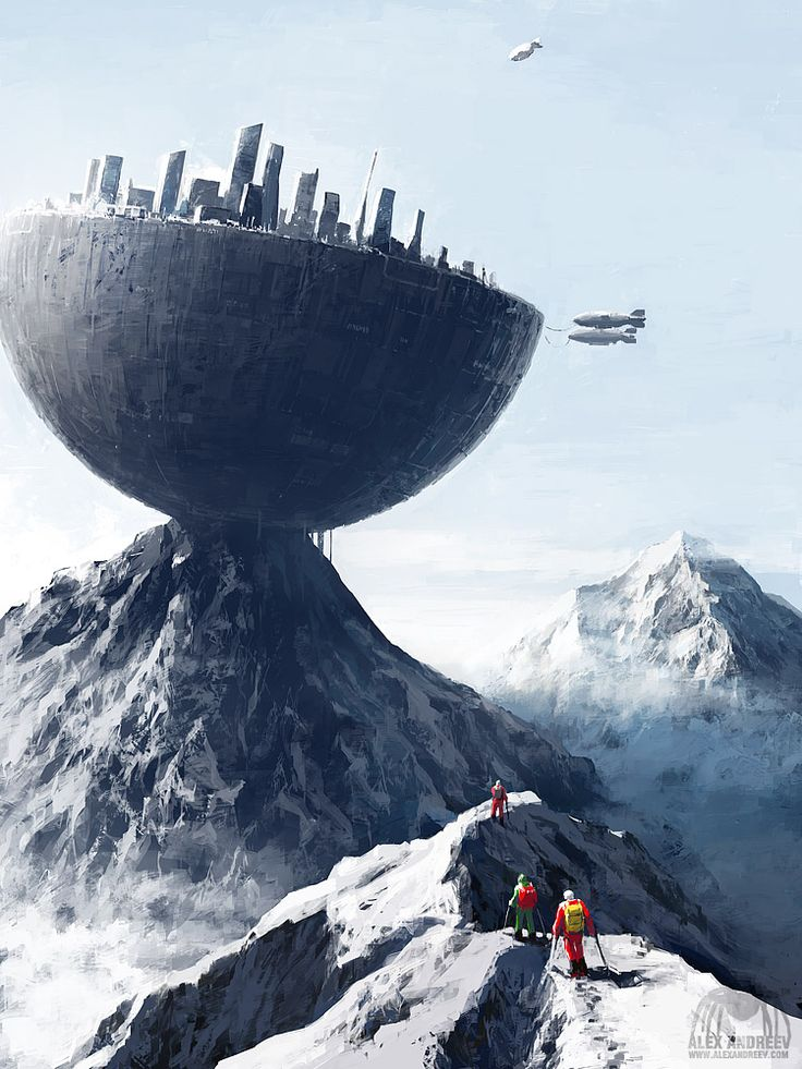 Edge City by Alex Andreyev | Fantasy | 2D | CGSociety