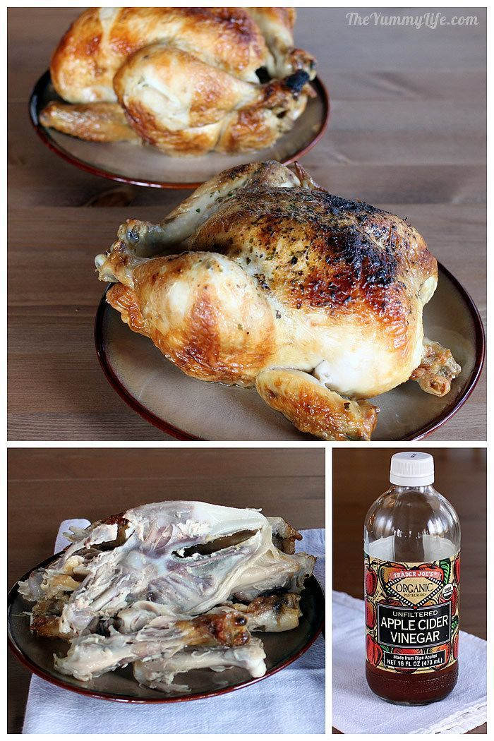 This is the best recipe! Chicken Bone Broth In A Slow Cooker. An easy, tasty health booster. TheYummyLife.com