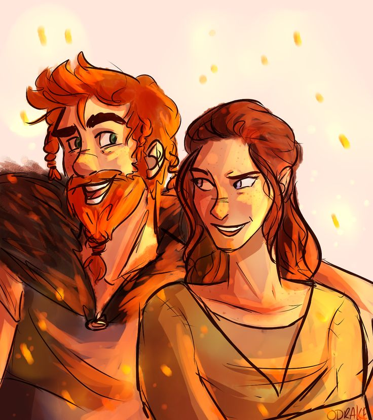 Stoick and his lovely lady in their younger days. I just love how he looks just a bit like Hiccup.