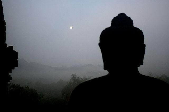 Borobudur moonset | Flickr - Photo Sharing!