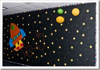how cool would this be on a wall in their bedroom?!?: Schools Bulletin Boards, Boards Idea, Hallways Bulletin Boards, Spaces Bulletin Boards, Schools Display Boards, Hallways Display, Math Boards, Spaces Themed, Rocket Ships