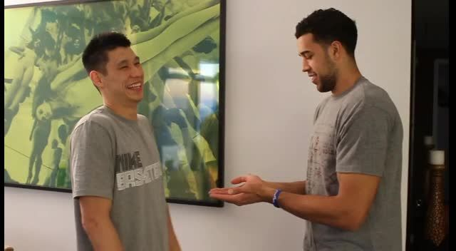 NBA Stars Jeremy Lin and Landry Fields Secret Handshake...Not so secret anymore!