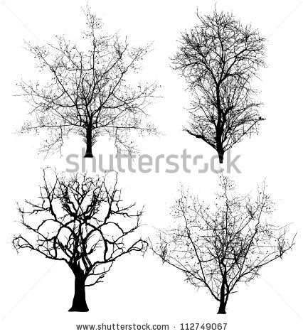 Dead Trees Vectors - stock vector