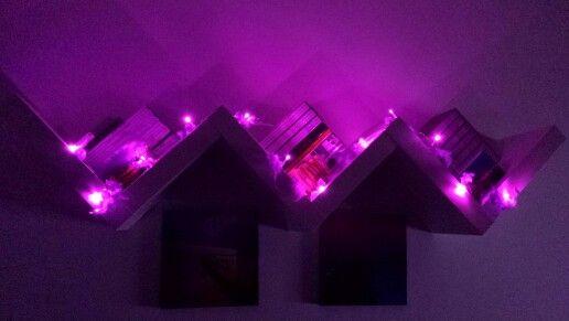 Purple mini lights...