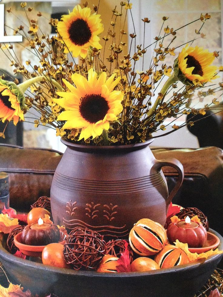 22 best dried sunflowers images on pinterest dried on favorite diy fall decorating ideas add life to your home id=28819