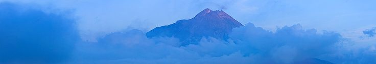 Merapi Mountain, view from Ketep pass, Magelang, Central java