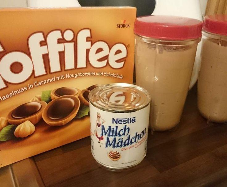 Toffee kuchen mit milchmadchen