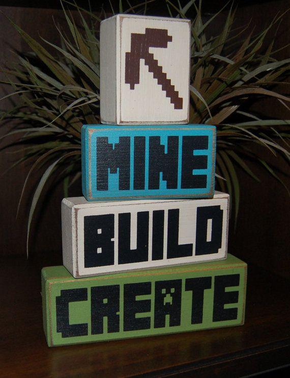 MINECRAFT Mine Build Create Creeper Pick Axe by SimpleBlockSayings