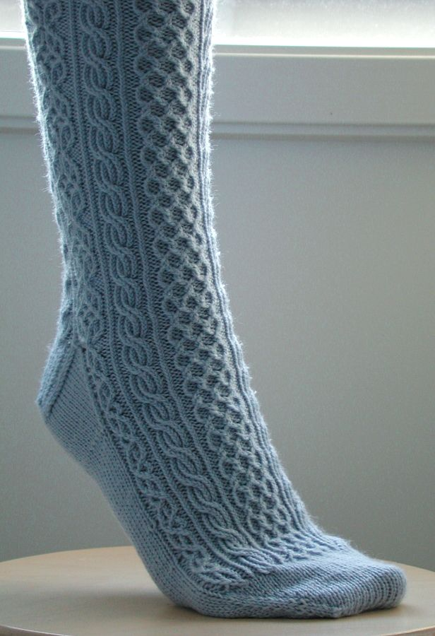 How I Converted the Bayerische Socks to Toe-Up hand knitted Pinterest K...