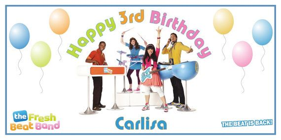 Personalized Nick Jr The Fresh Beat Band Big Vinyl Birthday Party Banner by BannerCrazy.com