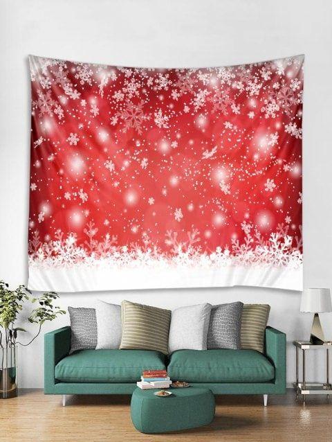 487b830decc Snowflakes Print Tapestry Art Decoration - multicolor W91 X L71 INCH ...