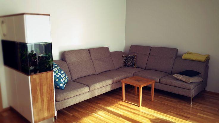 This is NICE, sofa with aquarium.