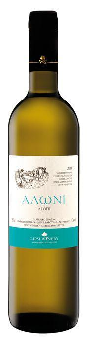 ALONI - dry white wine blended from  Assyrtiko, Athiri and Malagouzia.