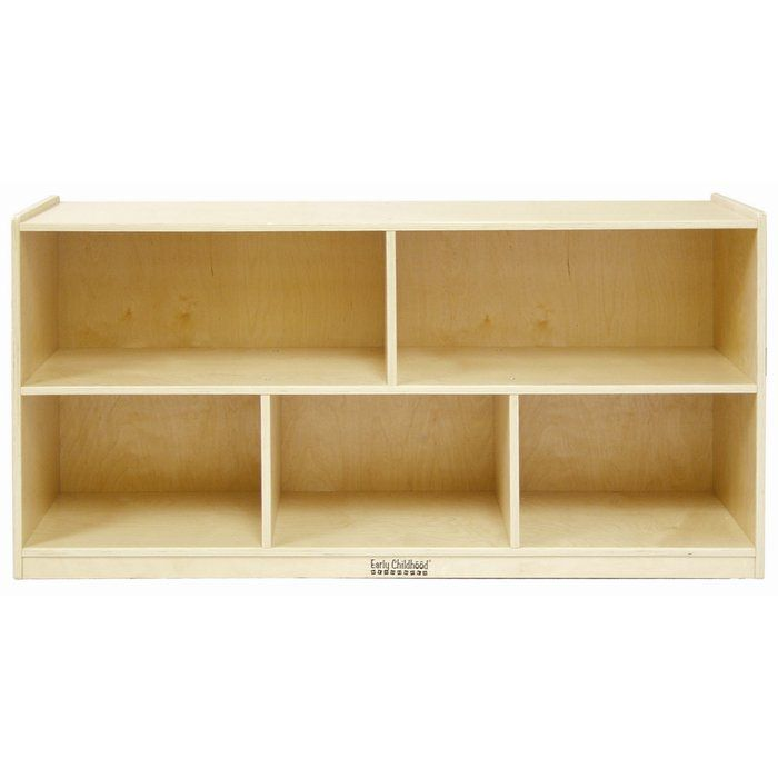 5 Compartment Shelving Unit With Casters Wooden Storage Cabinet Storage Cabinets Storage Cabinet