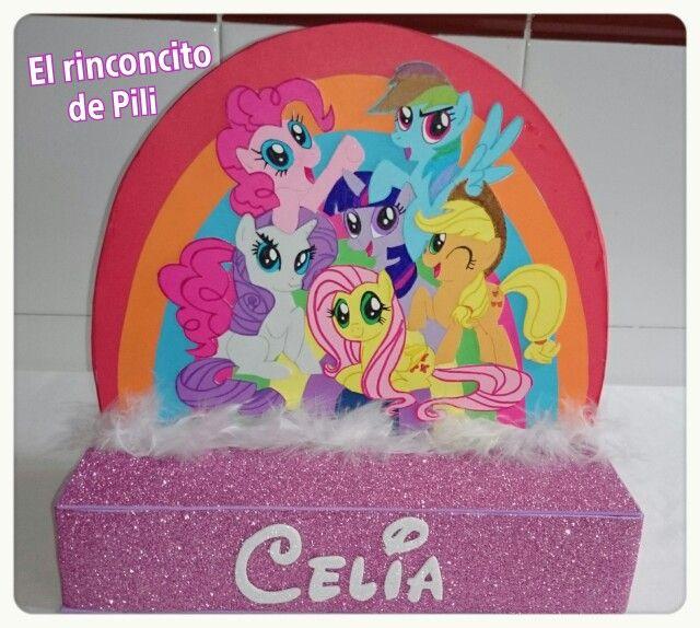 Centro de mesa cumpleaňos little pony #arcoiris #fiesta #niňos #color #imaginación #cumpleinfantil