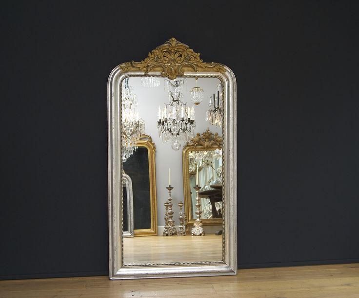 25 beste idee n over franse spiegel op pinterest grote for Grote zilveren spiegel