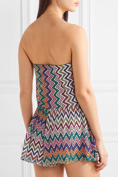 Missoni - Metallic Crochet-knit Playsuit - Lilac - IT38
