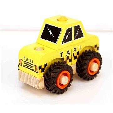 Wooden Block Taxi