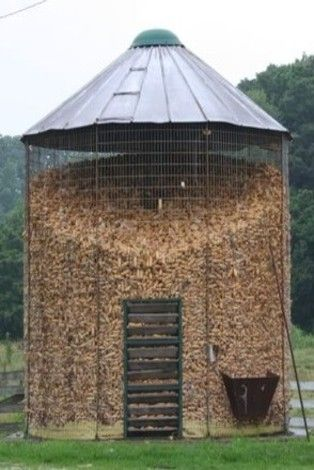 This Is A Corn Crib. A Giant Squirrel Feeder!