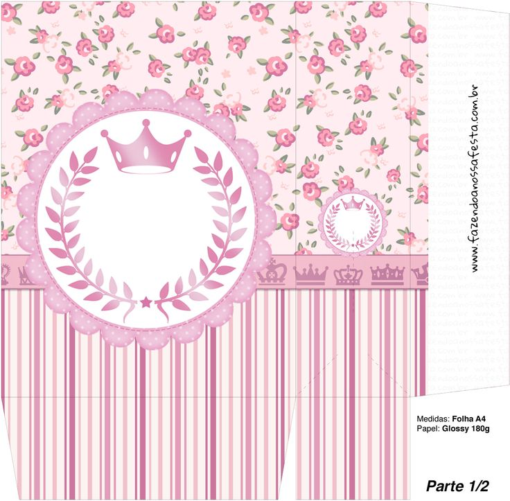 Sacolinha Surpresa Coroa de Princesa Rosa Floral - Parte 1