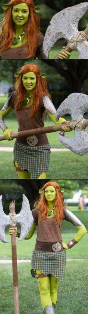 faschingsmasken-schrek-kostüm-frauen