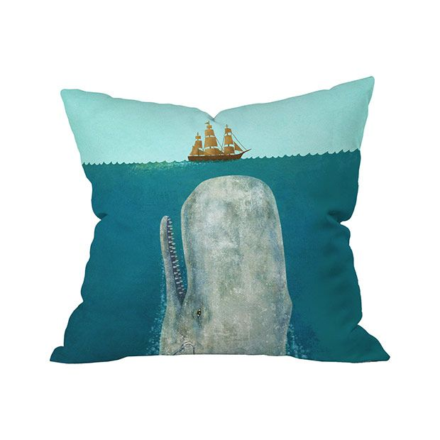 Weu0027re Taken By The Image On This Sea Sighting Outdoor Throw Pillow, Even