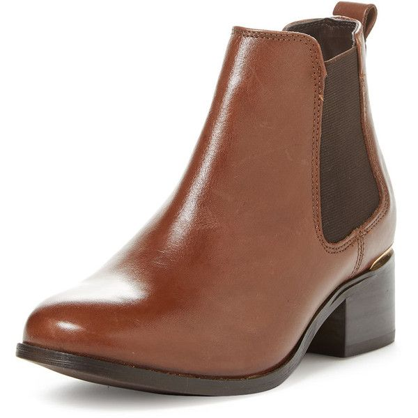 Carvela Kurt Geiger Women's Toby Chelsea Boot - Brown, Size 40 (4.735 RUB) ❤ liked on Polyvore featuring shoes, boots, brown, brown stretch boots, mid-heel boots, genuine leather boots, brown boots and brown chelsea boots