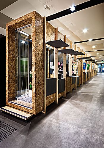'The Coop' retail space inhabits a disused access corridor in a central Melborne shopping mall. Designer -  Matt Gibson A+D, Melbourne.