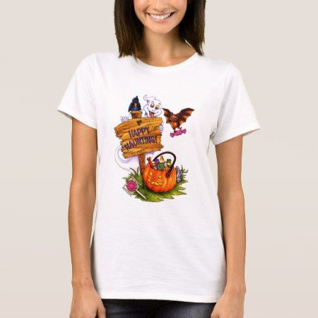 Happy Haunting T-Shirt - click/tap to personalize and buy