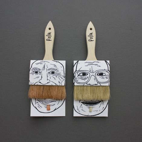 by Simon Laliberté for fictional company, Poilu: Work Funny, Ideas, Creative Packaging Design, Art, Paintbrush, Painting Brushes, Student Work, Paint Brushes, Simon Laliberté
