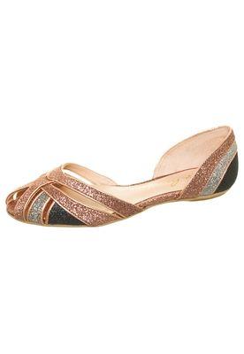 Sapatilha Tiras Glitter Bronze  Luiza Barcelos