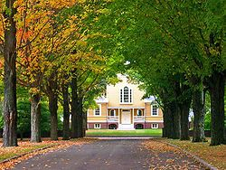 Boscobel, in Garrison, is on the U S National Register of Historic Places. It is an estate overlooking the Hudson River and considered an outstanding example of the Federal style of American architecture.
