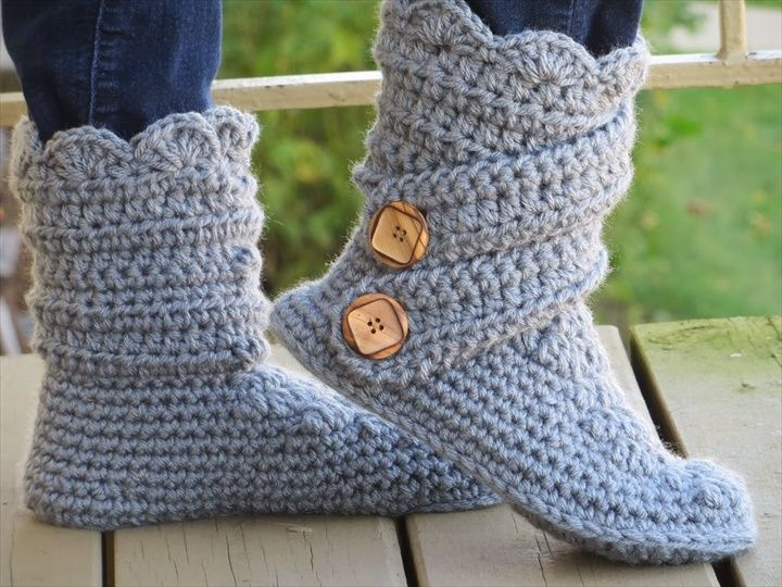 30 Easy Fast Crochet Slippers Pattern Crochet Crochet Slipper
