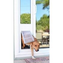 Doggie doors can be fit anywhere in your house, even your sliding glass doors. Our sliding glass dog doors easily integrate into the architecture of your house.