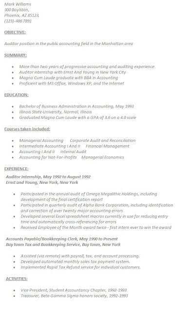 17 best Accounting Resume Samples images on Pinterest Accounting - accountant resume template