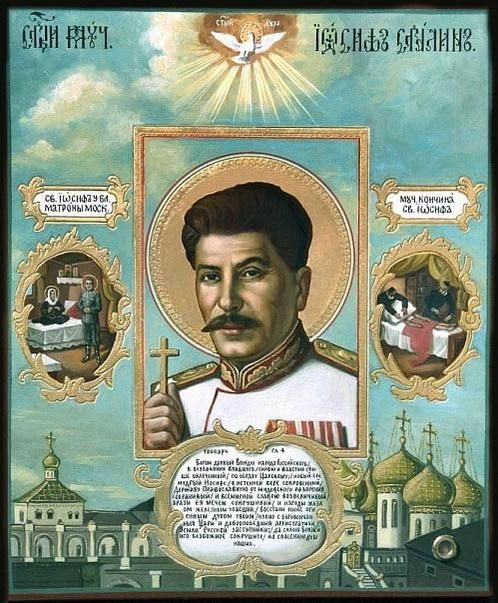 Saint Iosif, Stalin as a saint. Interesting image for    via @MariaB074