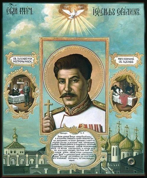 Saint Iosif, Stalin as a saint. Interesting image for    via @MariaB074