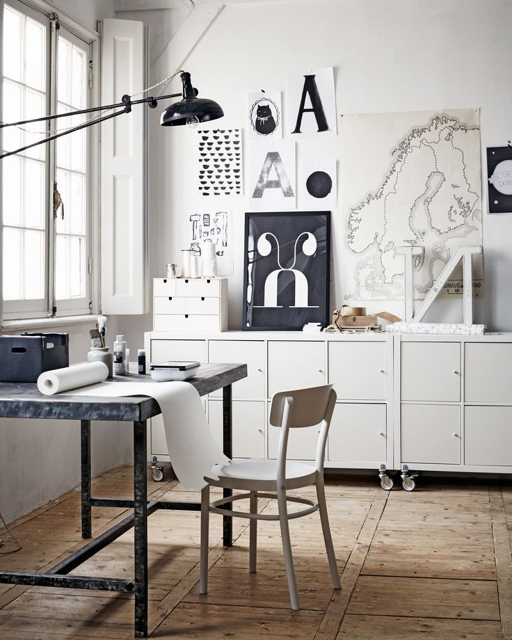 Office in black and white