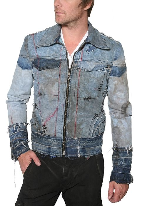 "Men's JUNKER - ""THE KELLEY"" Custom Denim Jacket"