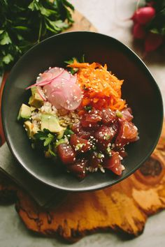 Ahi Tuna Poke Bowl   A Thought For Food via Sprouted Kitchen Bowl + Spoon
