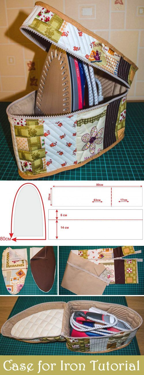 How to sew a cover for Iron. Tutorial & Pattern http://www.free-tutorial.net/2017/01/cover-for-iron-tutorial.html: