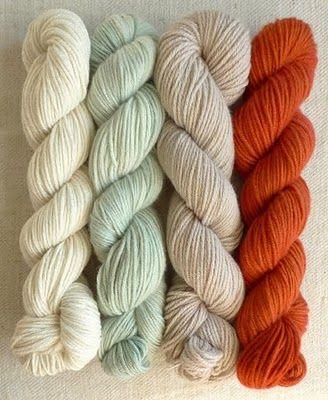 great color combo: neutrals + aqua + rust
