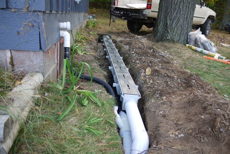 Discharge Drain And Sump Pump Connections French Drain