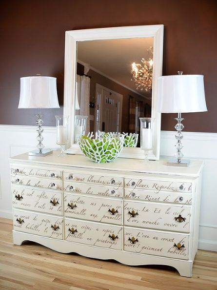Thrift store dresser redo with paint and stencils - Royal design muebles ...