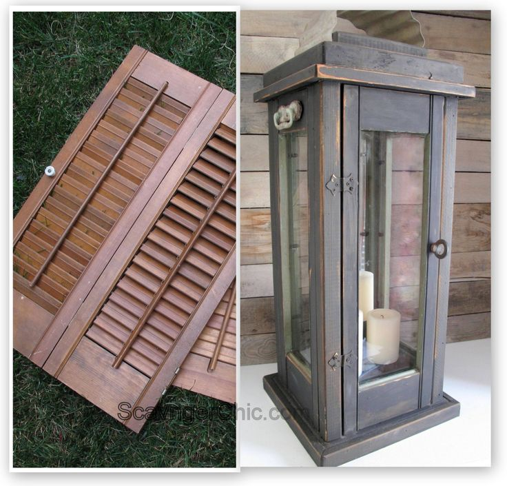 Lantern diy, upcycled from old shutters