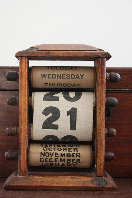Vintage rolling pins made into a calendar. I really want one of these how about you?